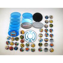 4111l Mattel, Lote De Bases De Figuras Dc Universe