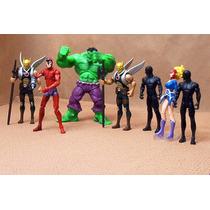 Lee Anuncio X Harbinger Hulk Lote 7 Figura Dc Comic & Marvel