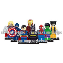 Set 8 Figuras Marvel Dc Compatibles Lego Superheroes