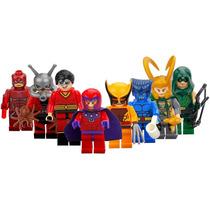 Set Magento Bestia Antman Loki Wolverine Marvel Dc Tipo Lego