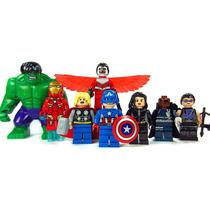 Set De 8 Los Avengers Hulk Falcon Iron Man Thor , Tipo Lego