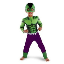 Marvel Super Hero Squad Hulk Toddler Costume Muscle