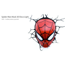 Lamparas Marvel Led De Pared Spiderman Mask | Tooys