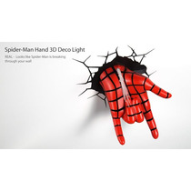 Lamparas Marvel Led De Pared Spiderman Hand | Tooys