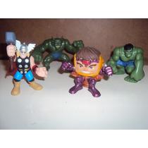 Lote De 4 Super Hero Squad Thor Modok Hulk Abominacion