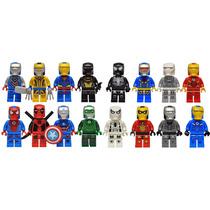 Set De 16 Nuevas Armaduras Iron Man 2015 Marvel Dc Tipo Lego