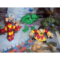 Lote D 5 Super Hero Squad Avengers Thor Hulk Ironman Abomina
