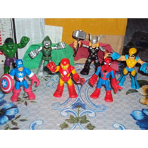 Lote Super Hero Squad Dr. Doom,capitan America,ironman,hulk,