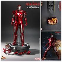 Hot Toys Iron Man Silver Centurion Version Exclusiva En Mano