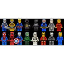 Set 16 Armaduras Iron Man Marvel Dc Minifiguras Para Armar