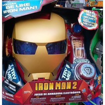 Iron Man Casco Luz Sonid Repulsor Y Arco Avengers Marvel Sp0