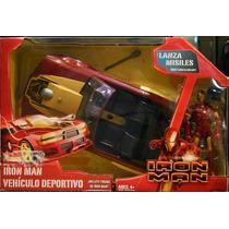 Iron Man Figura Con Su Vehiculo Deportivo