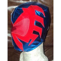 Mascara De Spiderman 2099 P/niño Hombre Araña Del Futuro.