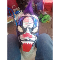 Wwe Aaa Mascara De Luchador Circus Psycho Clown P/niño.