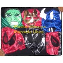 Mascaras Avengers,vengadores,hulk,spiderman,iron Man Capita