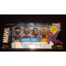 X-men Pack Cyclops, Wolverine, Storm Y Logan Minimates