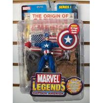 Captain America Holograma Marvel Legens Toy Biz (serie1)
