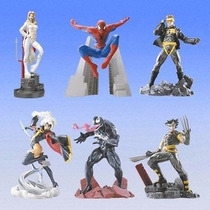 Spiderman X-men Gashapons Coleccion Bandai Super Raro