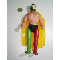 Figura Vintage De Luchador De Plástico 80