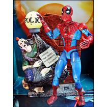 Spiderman Tipo Legends,con Base Estacion Policia,loose,16 Cm