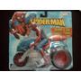 Spiderman Hombre Araña En Moto Bump Go Turbo Toybiz Trabucle