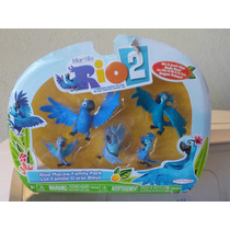 Set De Familia Blu Macaw Figuras De La Pelicula Rio 2