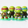 Set De Las Tortugas Ninja Kids Chibli 7 Cm Leo Don Rafa Mike