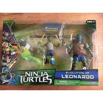 Turtles Ninja Movie 2014 Leonardo Evolution 3 Figuras