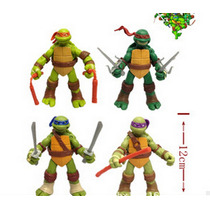 Figuras De Accion Tortugas Ninja Articuladas Set De 4