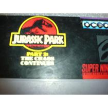Jurassic Park Parte 2 De Super Nintendo Impecable