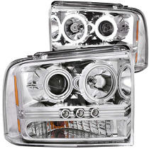 Ford Super Duty 05-07 Led Projector H.l Chrome 1 Pc(ccfl)