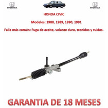 Caja Direccion Mecanica Cremallera Honda Civic 1988