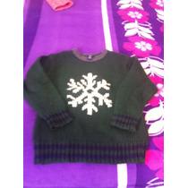 Sweater Verde Gap Kids Copo De Nieve Talla 5-6 Vbf