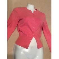 Suéter Mujer Rosa American Eagle Chico Con Botones Seminuevo