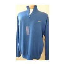Sweater Lacoste Original Algodon Pima Jersey 1/4 Ciper T 8