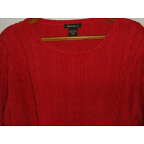Sweater Eddie Bauer Dama Nuevo 100% Algodón Talla Xxl
