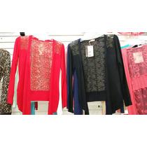 Suéter Encaje En Espalda,hombros Moda Japonesa,mayoreo,color