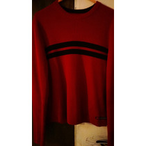 Sweter - Sueter Abercrombie & Fitch Rojo