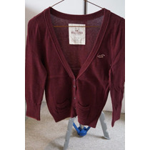 Sweater Hollister Talla L Color Vino