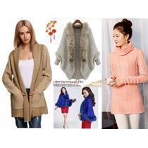 Moda Japonesa Oriental Asia Sueter Abrigo Tejido Bordad S Xl