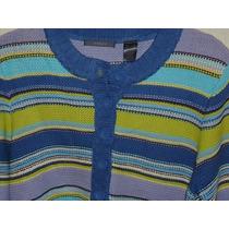 Sweater Liz Claiborne Con Botones Fashion Nuevo Talla Xl