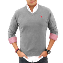 Suéter Polo Houston Hpc 3045-imp-gr