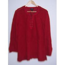 Sweter Para Dama Ralph Lauren Rojo T- 2x Nuevo Sin Etiqueta