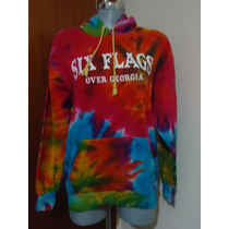 Padrisima Sudadera Six Flags Georgia Usa P/dama M