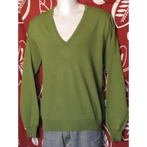 Suéter Benetton Talla L 100% Original Caballero Nuevo Verde