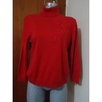 Sueter Tejido Liz Claiborne 100% Original P/dama Xl-36 Rojo