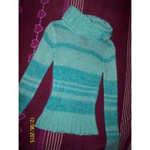 Limpia De Closet Sweater Azul Bisou Bisou Seminuevo