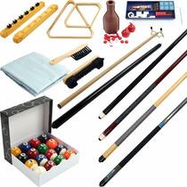 Kit 32 Piezas Accesorios Para Billar,tacos,bolas,cepillos
