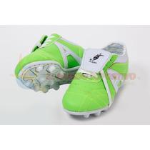 Zapato De Futbol Jerry Infantil Sintetico Verde/blanco