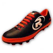 Tenis Zapato Futbol Rapido R55 Naranja Ruggel Galgo